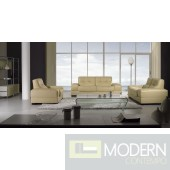 BO3884 Modern Beige Leather Sofa Set