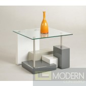Modern Lamp Table Clear Glass Top