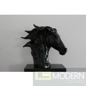 Modrest SZ0002 - Modern Black Horse Head Sculpture