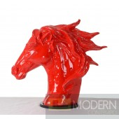 Modrest SZ0002 - Modern Red Horse Head Sculpture
