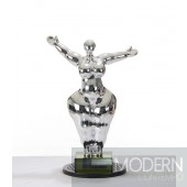 Modrest SZ0034 - Modern Silver Voluptuous A Sculpture