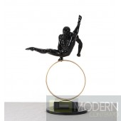 Modrest SZ0216 - Modern Black Gymnast-C Sculpture