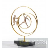 Modrest SZ0240 - Modern Bronze Acrobats-Rings Sculpture