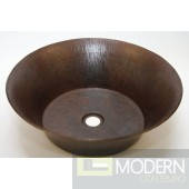 Round Copper Bath Vessel in Antigua Finish