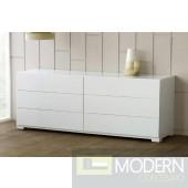 Modrest Roma - Modern White Lacquer Double Dresser