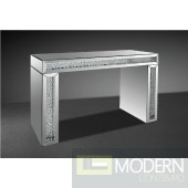 Modrest Glimmer - Transitonal Mirrored Console Table with Artificial Crystals