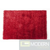Modrest Shaggy OY01 Red Large Area Rug