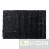 Modrest Shaggy OY10 Black Large Area Rug