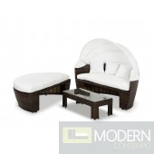 Renava Sunny - Round Patio Day Bed With Retractable Sun Cover