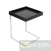 Zenn Tray End Table + Tray Black