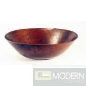 Oval Copper Bath Vessel Sink in Antigua Finish