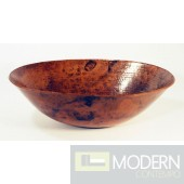 Oval Copper Bath Vessel Sink in Natural Finish