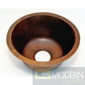 Round Copper Bar Sink