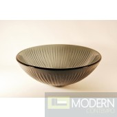Grey with Straight Stemmed Pattern Vessel Sink