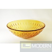 Burnt Yellow Checkered Vessel Sink