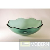 Clear Light Green Vessel Sink