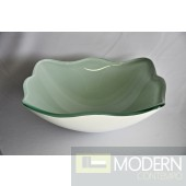 White Frosted Shaped Vessel