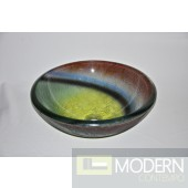 Rainbow Colored Glass Vessel Sink
