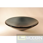 Clear Grey Low Profile Round Vessel Sink