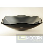 Clear Grey Fluted Rectangular Vessel Sink