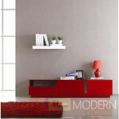 TV Stand 027 in Red High Gloss