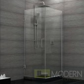 Unidoor Plus 30-3/8 in. W x 30 in. D x 72 in. H Hinged Shower Enclosure, Brushed Nickel Finish Hardware