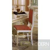 4 Modrest Rossella - Italian Classic Beige w/ Salmon Fabric Dining Chair