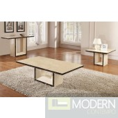 Modrest Chic Modern Walnut Marble Coffee Table