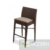 Renava H25 Brown Patio Bar Chair