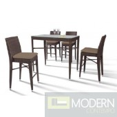 Renava HT25 Maxi - Rectangular Patio Bar Table and Four Bar Chairs