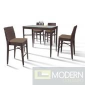 Renava HT25 Maxi - Rectangular Patio Bar Table and Four Bar Chairs