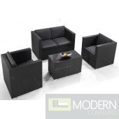 Renava H76 4-Piece Outdoor Black Sofa Set