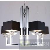 Modrest KR003P-5 Modern Chrome and Black Chandelier Lamp