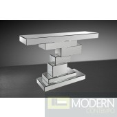 Modrest Equilibrium Mirrored Console Table