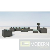 Renava Alps 11 - Sectional, Two Chairs, End Table, Ottoman and Coffee Table Patio Set
