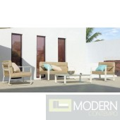 Renava Hayworth White Outdoor Sofa Set
