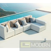 Renava Nicosia White Outdoor Small Sectional Sofa w/ Right Facing Chaise
