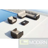 Renava Reviera - Sectional, Two Chairs and Coffee Table Patio Set