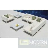 Renava Victoria - Sectional, Chair, and 2 Coffee Table Patio Set