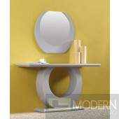 Modrest Miro Modern White High Gloss Console Table with Mirror