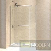 """Vitreo-X Frameless Pivot Shower Door and SlimLine 34"""" by 60"""" Single Threshold Shower Base Center Drain"""