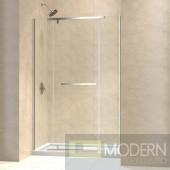 """Vitreo-X Frameless Pivot Shower Door and SlimLine 36"""" by 60"""" Single Threshold Shower Base Center Drain"""