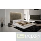 Wave King Size Bed in White