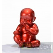 Modrest XD00584 - Modern Red Baby Sitting Sculpture