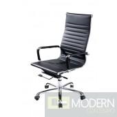 Modrest Scroll - Modern Black Eco-Leather Office chair