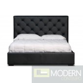 Zoe Storage Bed Twin Size in Black