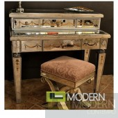 Toulon Mirrored Antique Sofa Table