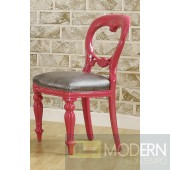 THALIA Neo Classic French Style Accent Chair Pink - Set of 2