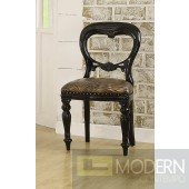 THALIA Neo Classic French Accent Chair Black - Set of 2