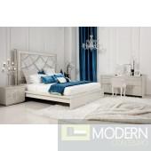 Temptation Juliet Modern Platform Bed With Headboard